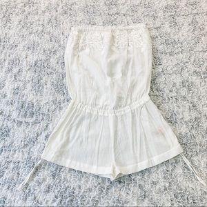 Victoria's Secret White Embroidered Romper XS